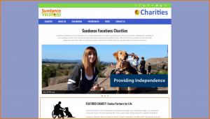 Sundance Vacations Charities Website