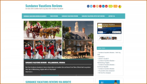 sundance vacations reviews site screenshot for News Site