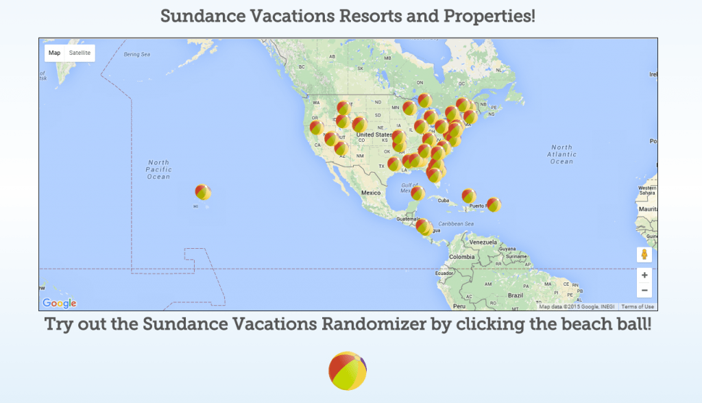 Sundance Vacations Resorts and Properties Map