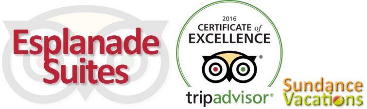 Esplanade Suites Earns 2016 TripAdvisor Certificate of Excellence Sundance Vacations Resort