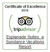 Esplanade Suites a Sundance Vacations Resort Earns TripAdvisor Certificate of Excellence 2016