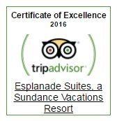 Esplanade Suites a Sundance Vacations Resort Earns TripAdvisor Certificate of Excellence 2016
