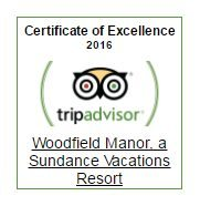 Sundance Vacations Woodfield Manor TripAdvisor Certificate of Excellence 2016
