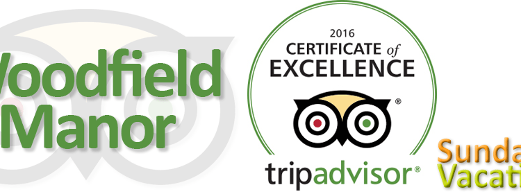 Woodfield Manor a Sundance Vacations Resort earns 2016 TripAdvisor