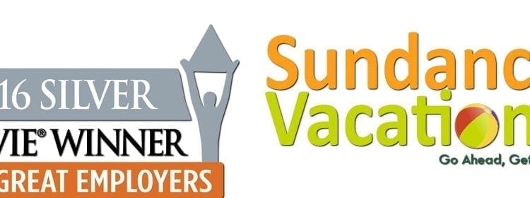 Stevie Awards for Great Employers 2016 Sundance Vacations Banner