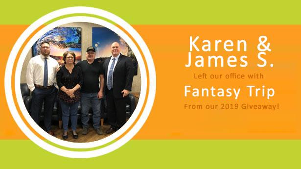Sundance Vacations $3000 Fantasy Winners Karen and James S.