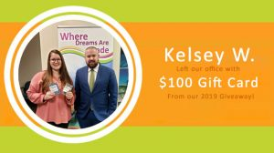 Sundance Vacations Kelsey W. $1000 gift card